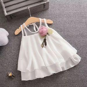 NWT beautiful white little girls  dress